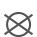 El círculo proporciona información sobre la posibilidad de lavado profesional en seco o húmedo. Las letras del interior del círculo especifican los disolventes que pueden utilizarse. La P se utiliza para lavado profesional en seco con tetracloroeteno.