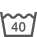 Ce symbole fournit des informations sur la possibilité et le type de lavage domestique, à la machine ou à la main. Les chiffres dans la cuve de lavage indiquent la température maximale en °C à ne pas dépasser.