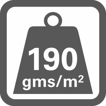 Materialgewicht pro m².
