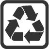 Material aus recycelten Plastikflaschen.
