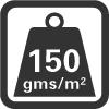 Materiaalgewicht per m2.