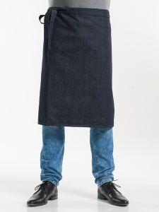 "Apron Plain Blue Denim 26"" W90 - L65"