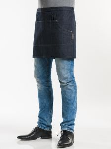 "Apron Multipocket Blue Denim 16"" W90 - L40"
