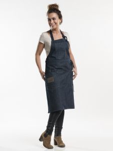 "Bib Apron Multipocket Blue Denim 35"" W75 - L90"