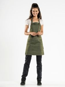 Bib Apron Salopet Green Denim W80 - L70