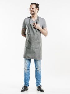 Bib Apron Base Grey Denim W70 - L75