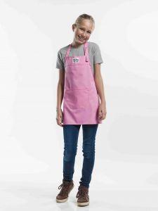 Bib Apron Kids Pink W50 - L55