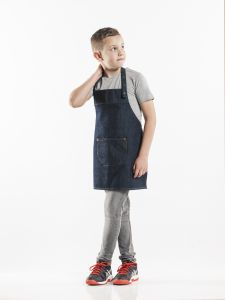 Bib Apron Kids Blue Denim W50 - L55