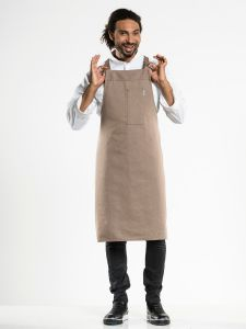 Bib Apron Nordic Cross Clay W75 - L100