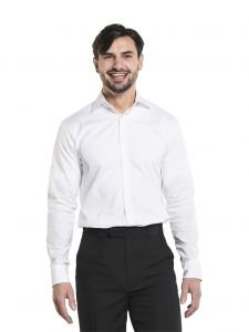 Shirt / Blouse Men White Stretch