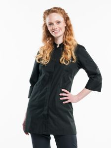 Serving Jacket Women Black Stretch 3/4 Sleeve