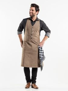 Bib Apron Bistro Mud Denim W100 - L85