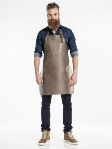 Bib Apron Hide Barrel Brown W65 - L80