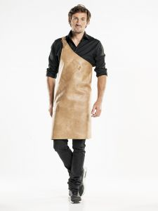 Bib Apron Butcher Irish Cream W90 - L80