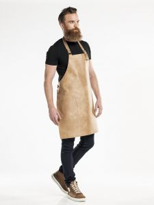 Bib Apron Hide Irish Cream W65 - L80