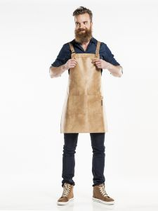 Bib Apron Fusion Irish Cream W70 - L80