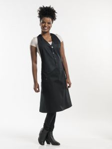 Bib Apron Barista Black Denim W100 - L85