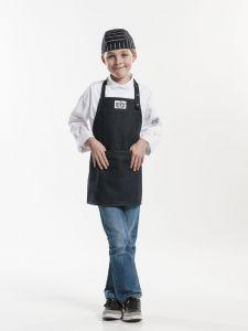 Bib Apron Kids Black Denim W50 - L55