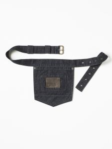 Accessories Pocket Belt Blue Denim