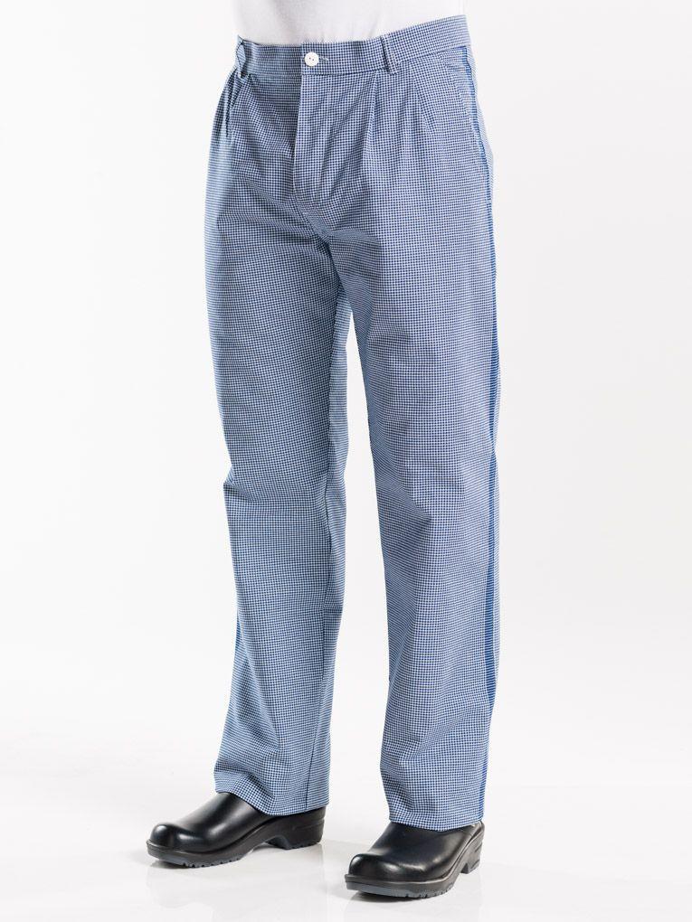 Chef Pants Pepita Blue