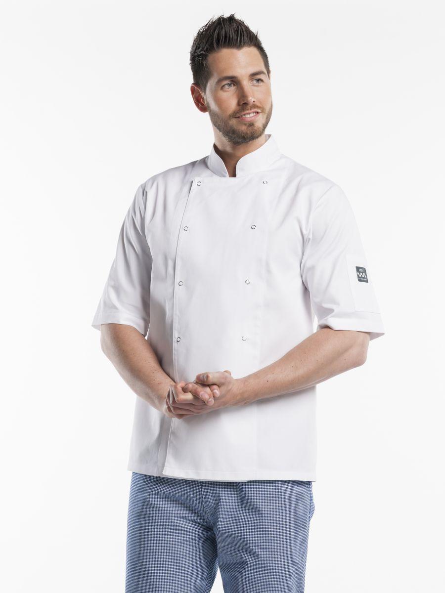 Chef Jacket Hilton Poco White Short Sleeve