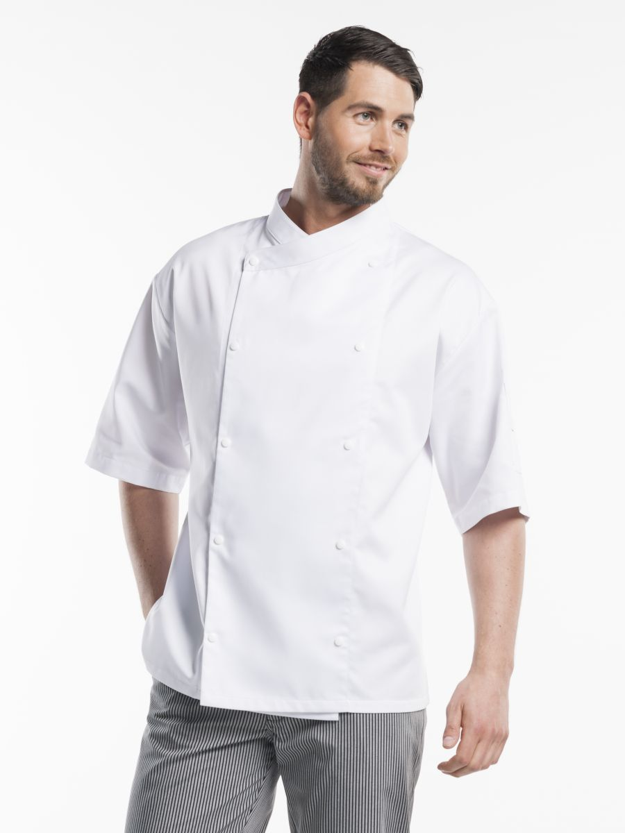 Chef Jacket Comfort White Short Sleeve