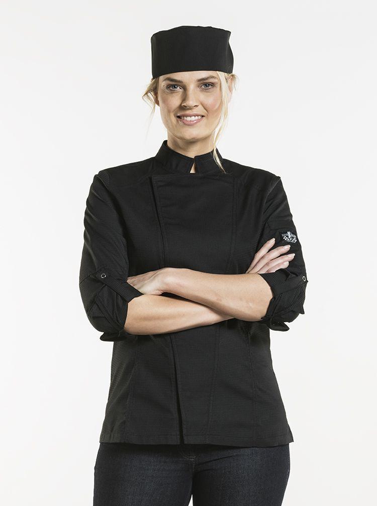 Chef Jacket Lady Biker SFX Black