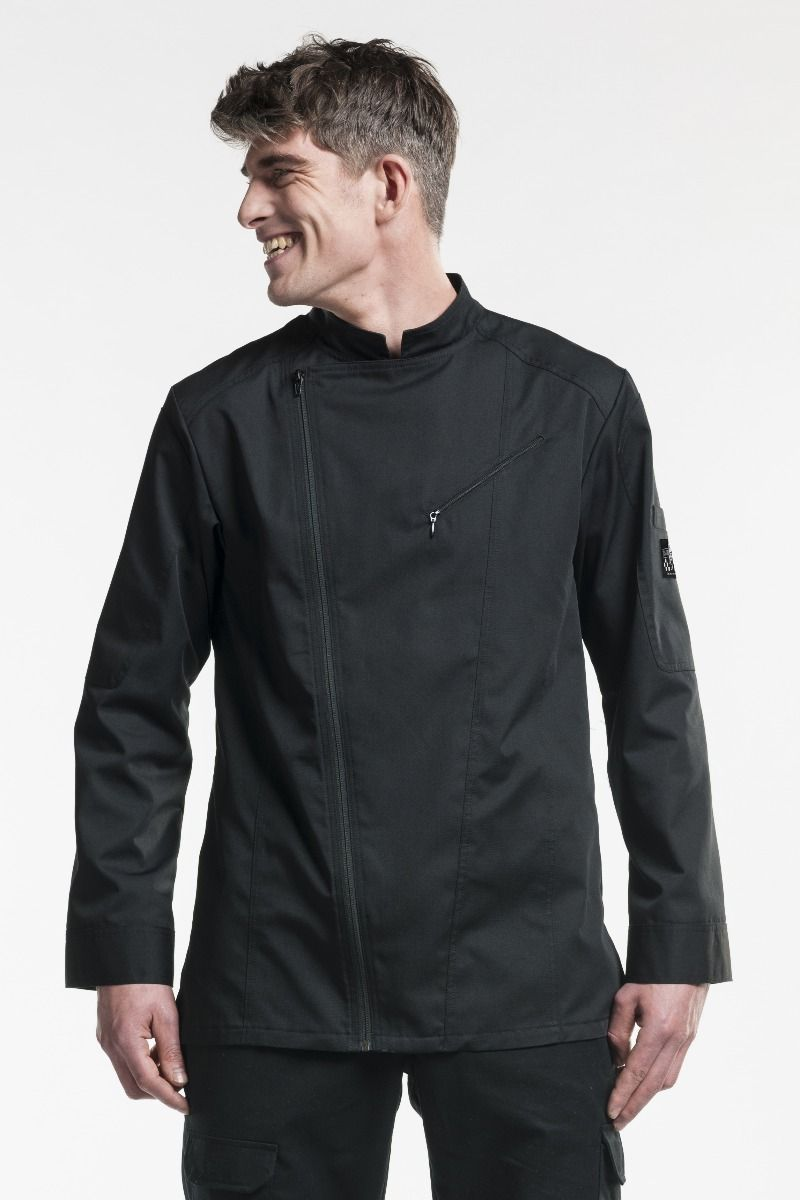 Chef Jacket Biker Black
