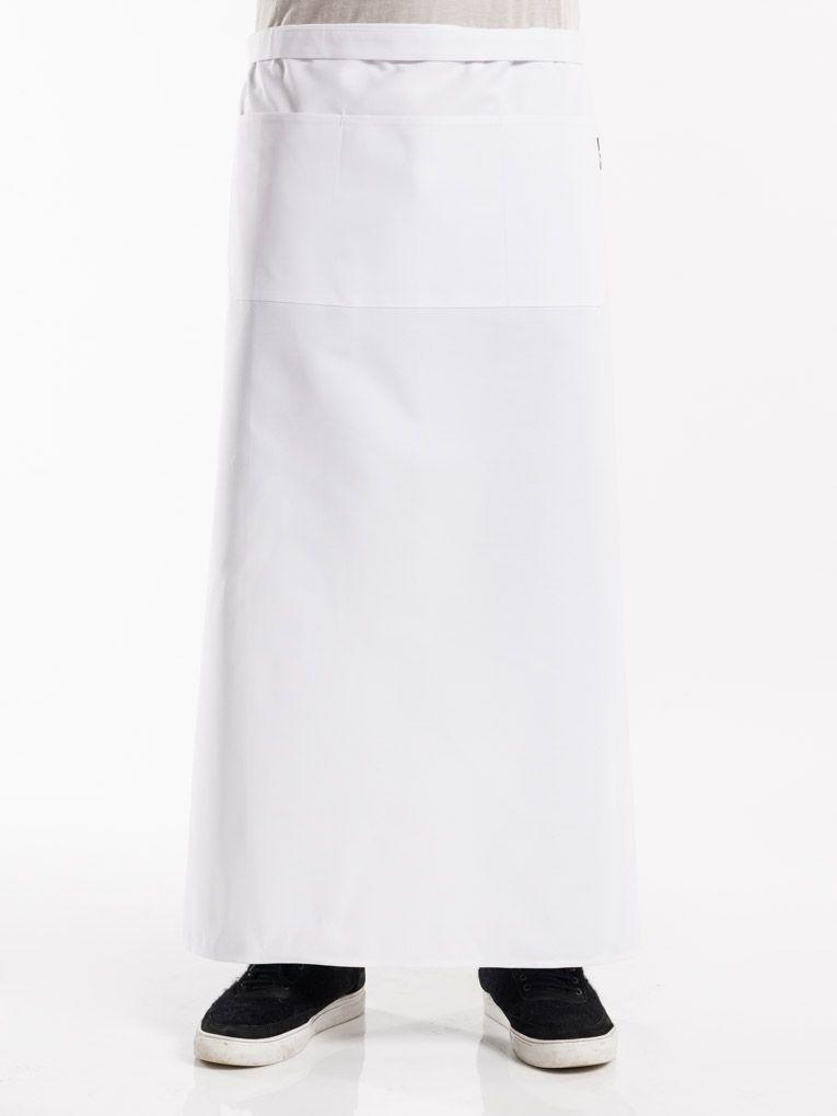 Apron 3-Pockets White W100 - L100