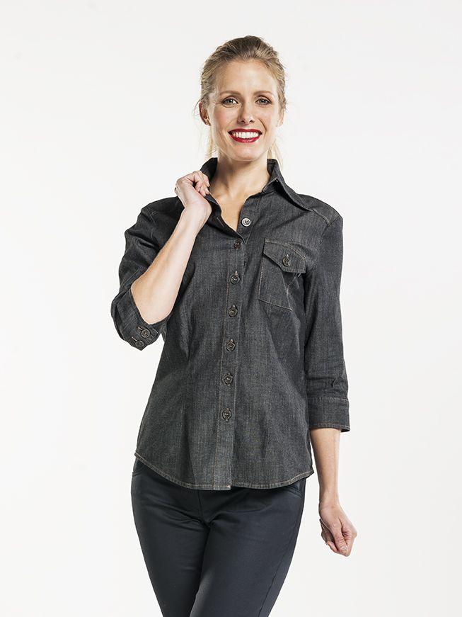 Shirt Women Antra Denim Stretch 3/4 Sleeve