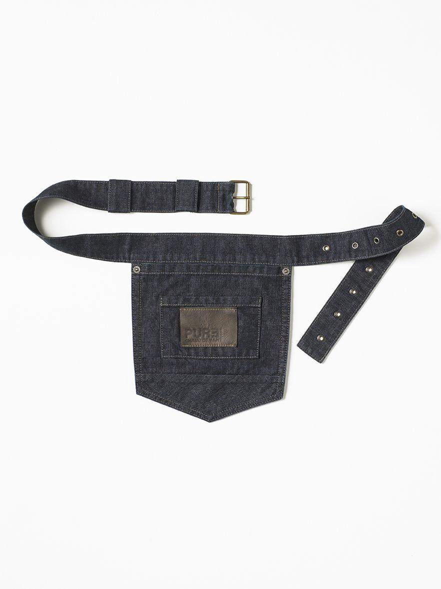 Accessories Pocket Belt Blue Denim