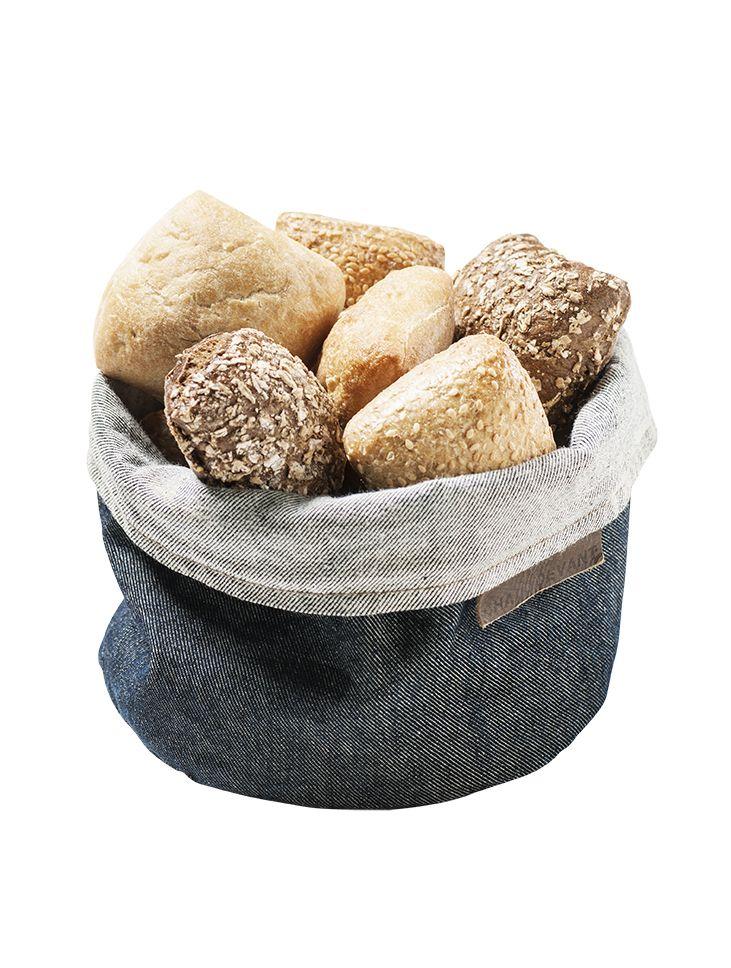 Accessories Bread Basket Blue Denim