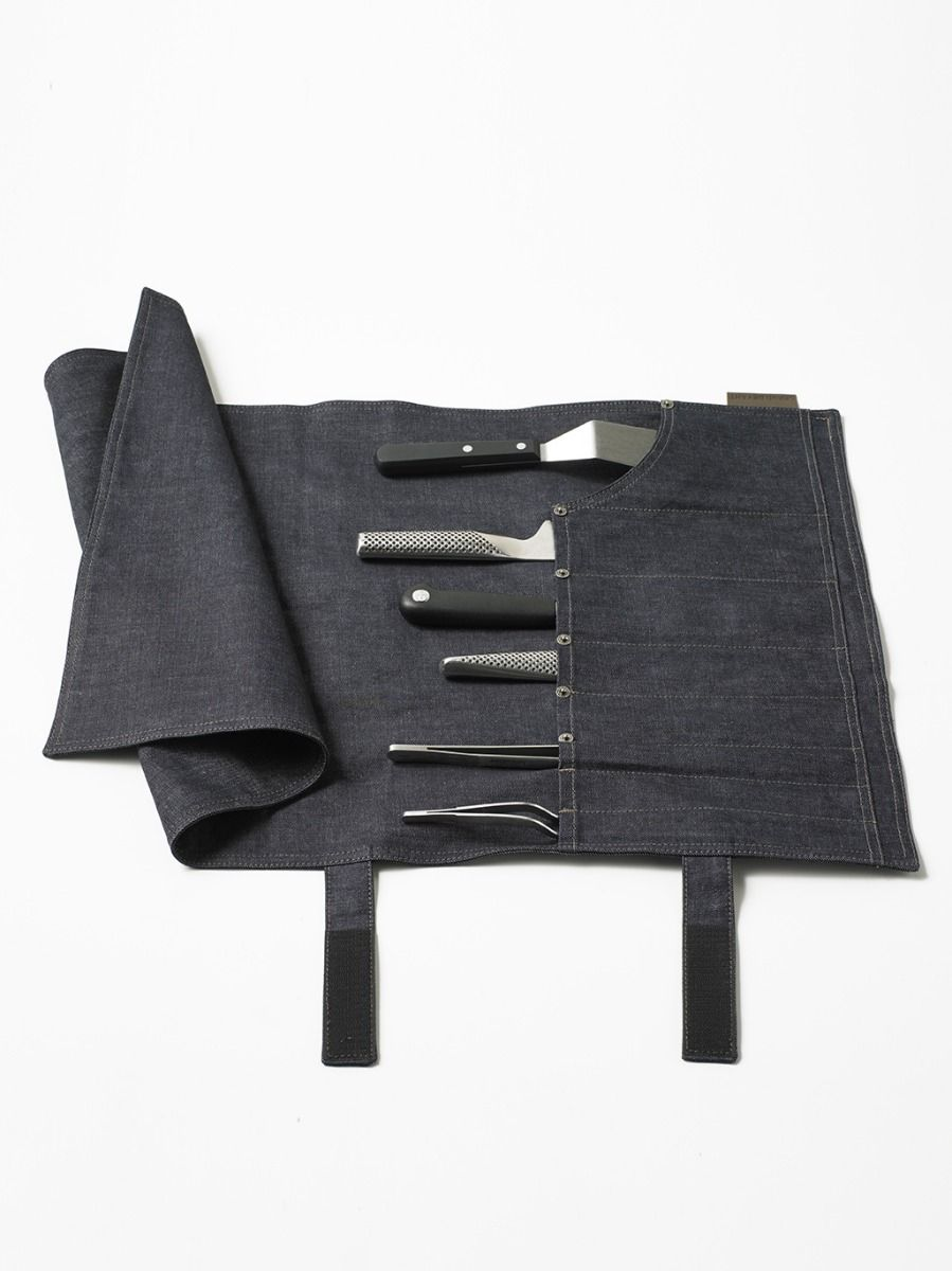 Accessories Knife Roll Blue Denim