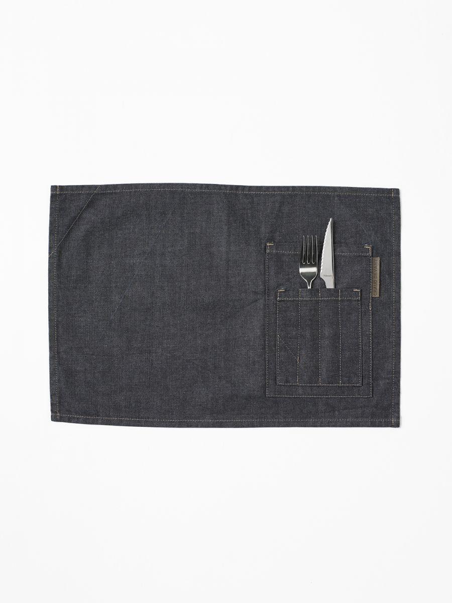 Table Textiles Placemat Blue Denim (2pcs) 50x35 cm