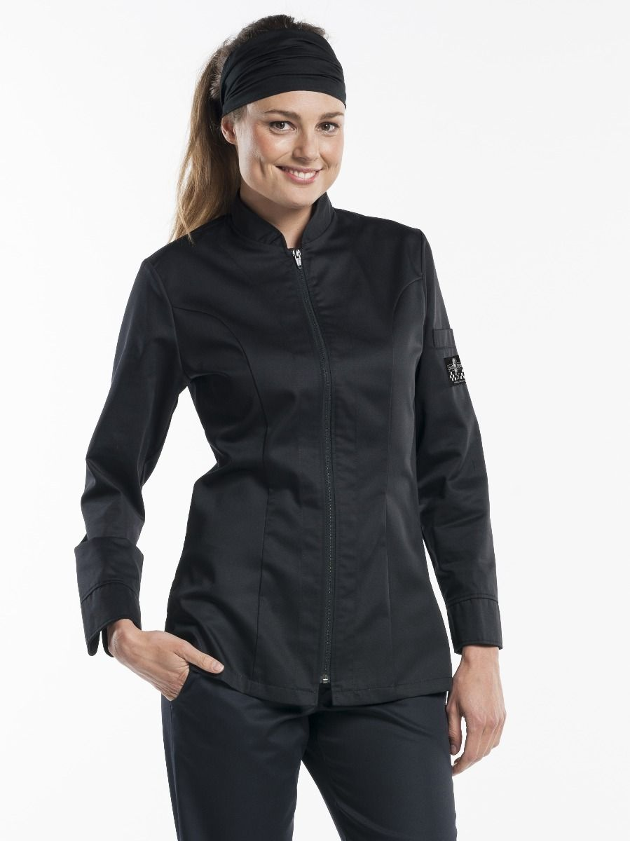 Chef Jacket Lady Monza Black