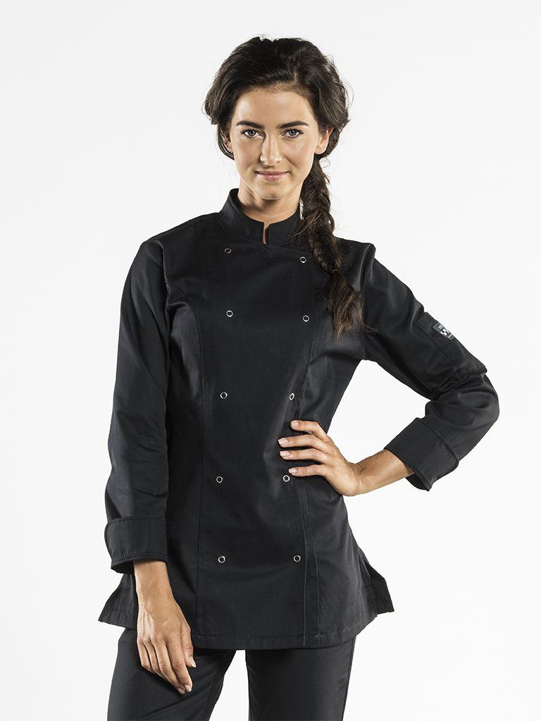 Chef Jacket Lady Poco Black