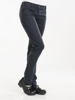 Chef Pants Lady Skinny Black Stretch