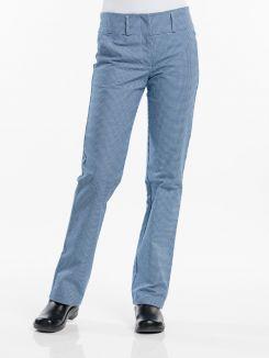 Chef Pants Lady Pepita Blue