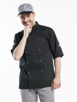 Chef Jacket Hilton Poco Black Short Sleeve