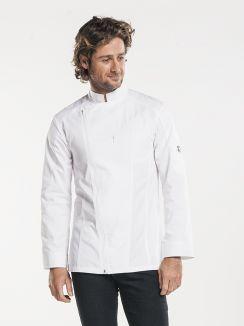 Chef Jacket Biker White
