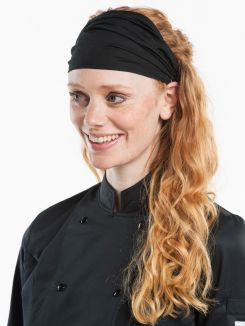 Headwear Wrap Black Stretch one size