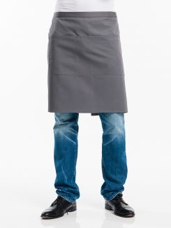 Apron 3-Pockets Grey W100 - L50