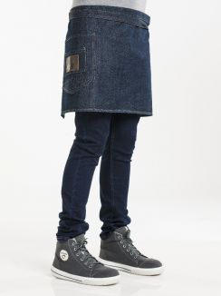 "Apron Backpocket Blue Denim 16"" W90 - L40"