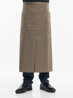 Apron 4-Pockets Taupe W90 - L80