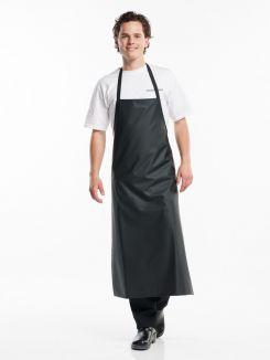 Bib Apron Waterproof Black W75 - L110