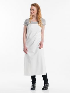 Bib Apron Waterproof White W75 - L110