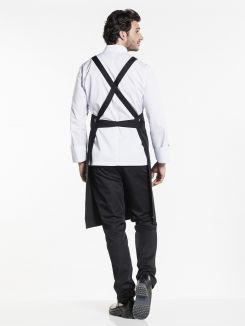 Bib Apron Cross Black W75 - L100