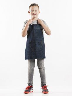 Bib Apron Kids Blue Denim W50 - L55