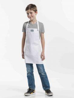 Bib Apron Kids White W50 - L55