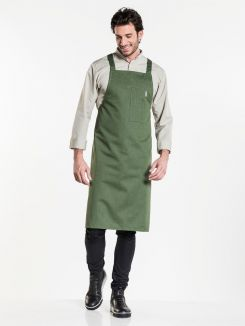 Bib Apron Nordic Cross Forest W75 - L100